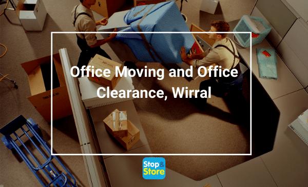Men moving office furniture