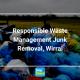 stacks of garbage piled for disposal