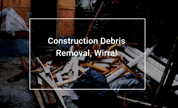 building demolished for debris and waste removal