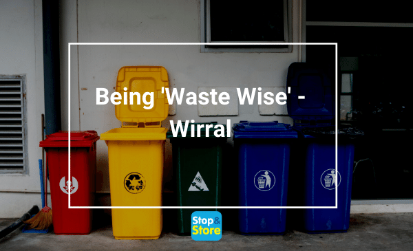 Red, Blue, Yellow and Green colored bins for proper waste disposal